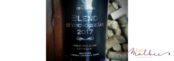 Vino boliviano Cepa de oro blend de Vischoqueña