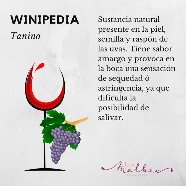 Winipedia Qué es el tanino de un vino