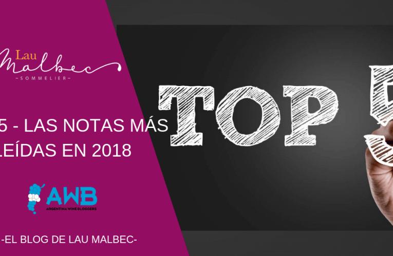 Top 5 – Las notas más leídas en 2018