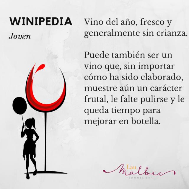 Qué es un vino Jóven, winipedia