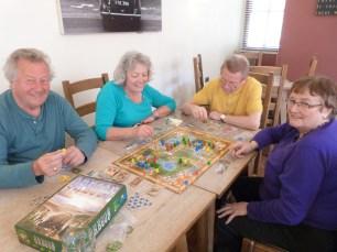 Brian, Ros, John and Belinda playing Oregon