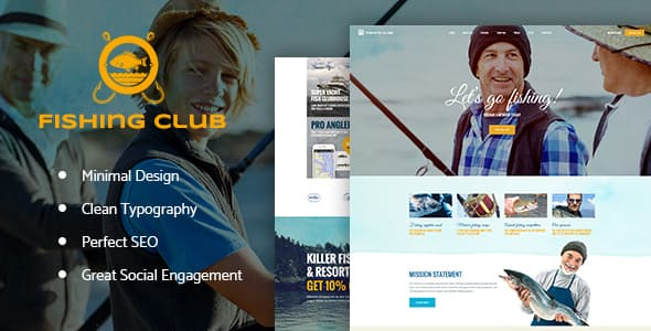 fishing and hunting blog theme