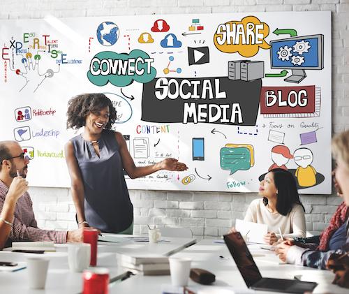 Social Media Technology Global Communication Concept