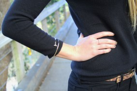 Gold Jewelry Black Sweater