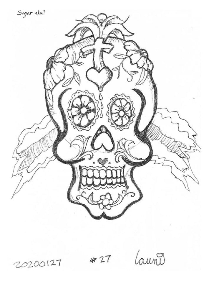 2020 Sketch of the day Number 27: Sugar Skull