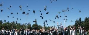 throwing cap in the air