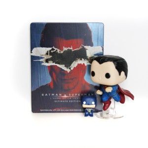 #Superman nous a rejoint ! #batmanvsuperman en #steelbook avec #funkopop assorties !
