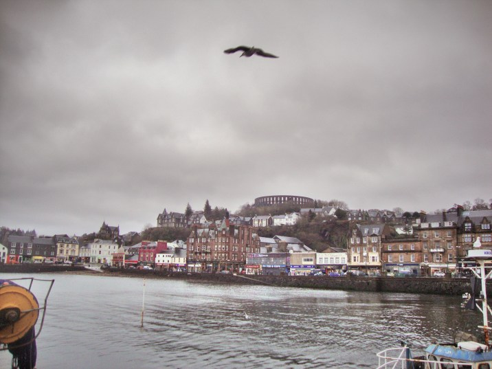 Oban town view from the harbour