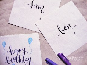 Happy birthday {balloons in watercolour}