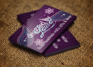 Designed by Laura business cards