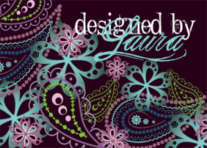 Designed by Laura postcard