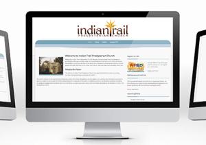 Indian Trail Presbyterian Church website mockup