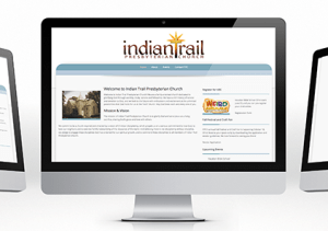Indian Trail Presbyterian Church website mockup