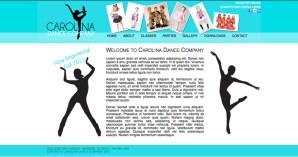 Carolina Dance Company homepage concept