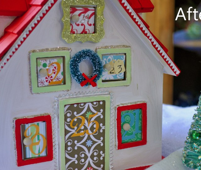 See The Post Of This Project Here Laurabraydesigns Com Advent Calendar House