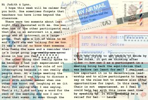 Exploring arts for social change postcard