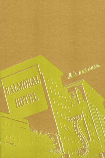 Balmoral Hotel - screenprinted journal