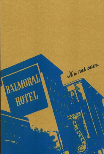 Balmoral Hotel, Vancouver - screenprinted journal