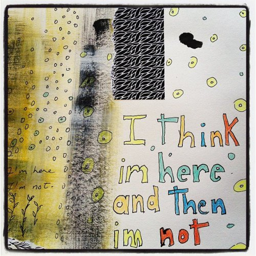 Daily art journal page