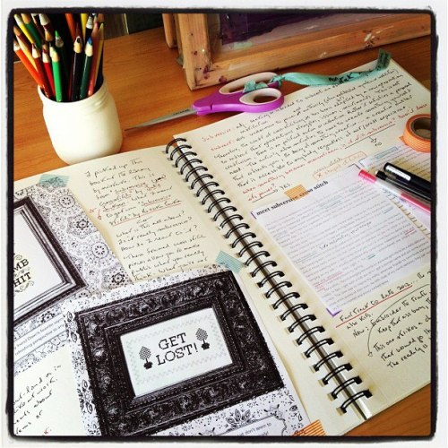 reflection journal: cross-stitch