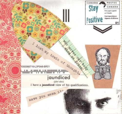 Mail art card collaboration