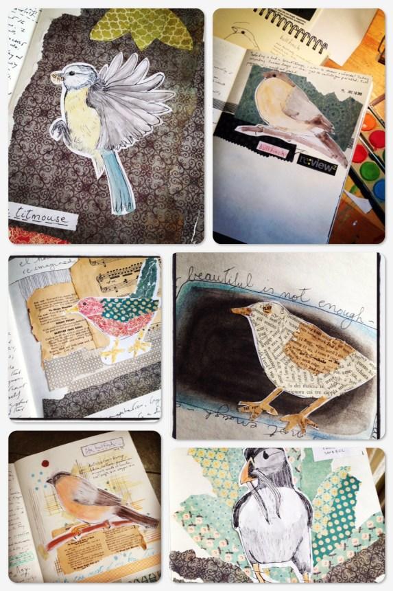 December 2013 Art Journal Birds
