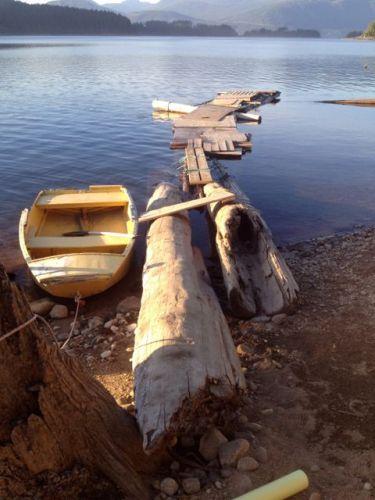 Rickety wharf at Lois Lake