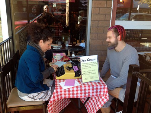 Here I am offering True Connect at Cafe de Soleil, September 28, Monday. Writing a love letter for this participant.