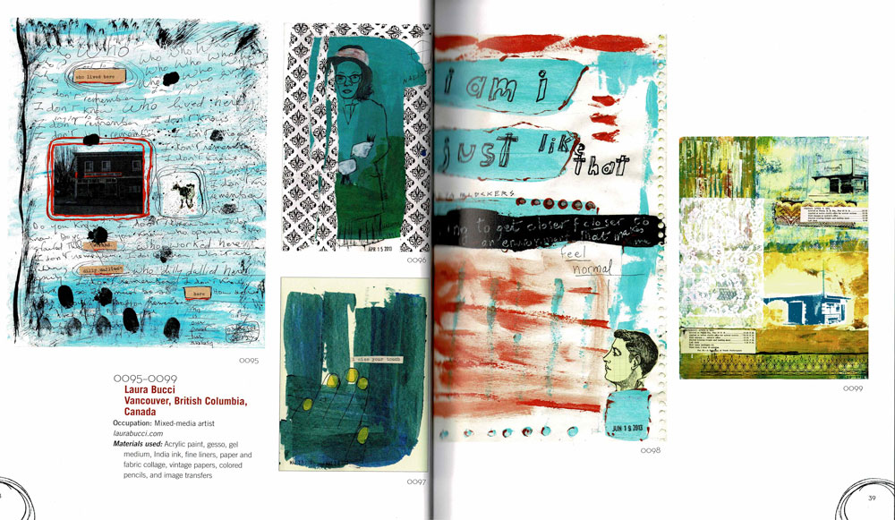 Image of book spread with my journal pages