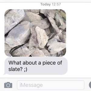 A text from my partner when he was at the garden centre