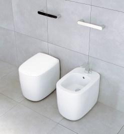 Detalle bidé WC toalleros