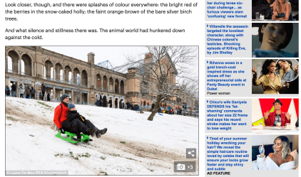 Daily Mail - snow in London - Ally Pally
