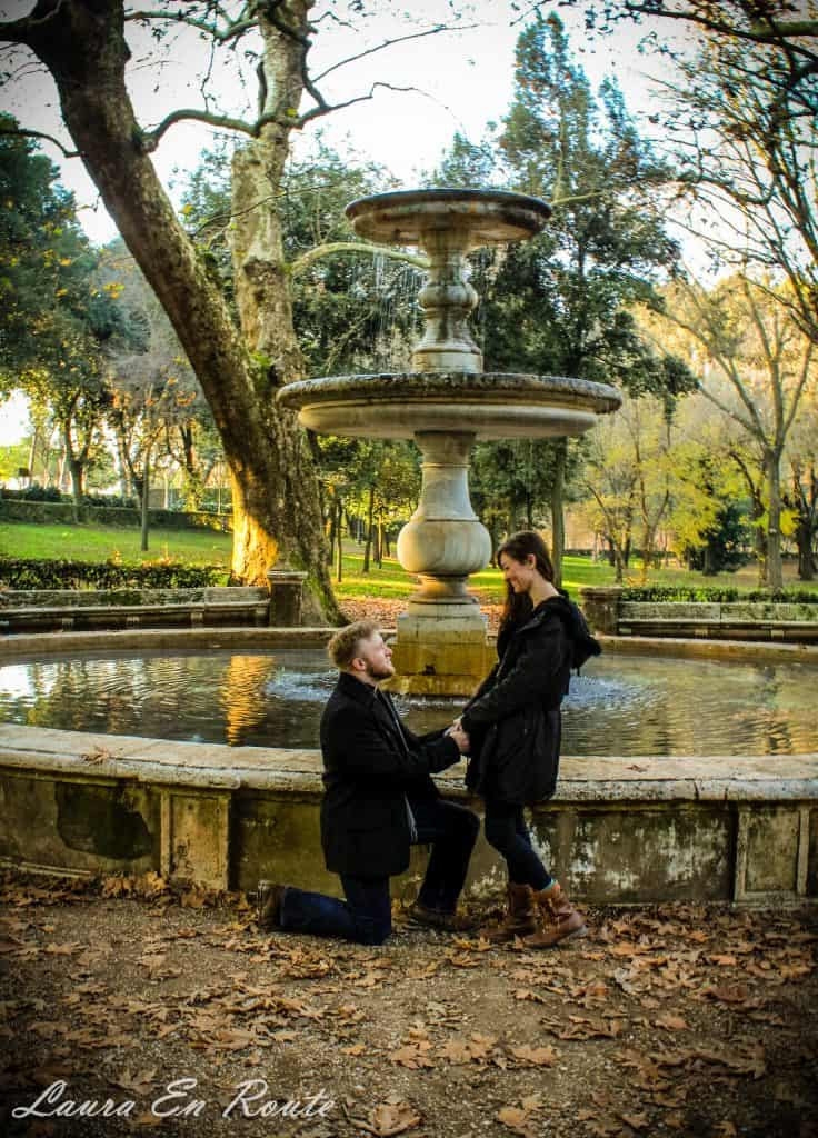 Rome Proposal at Villa Borghese