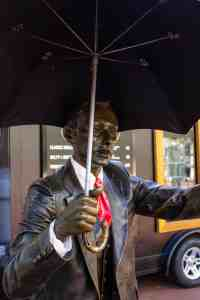 Man and Umbrella, Pioneer Square, Portland, OR