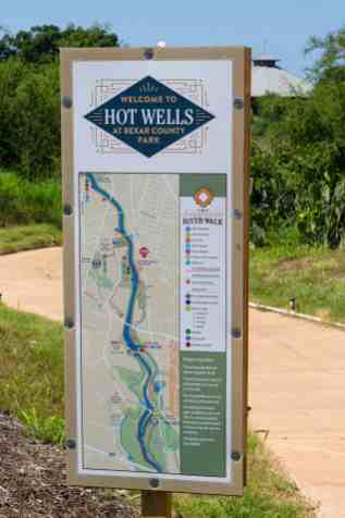 San Antonio River Sign - Hot Wells