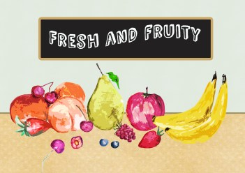 simple backdrop fruit stands out