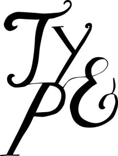 I like this as it combines a hand calligraphy style yet the placement looks quite modern