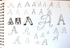 Thinking about letter shapes in general