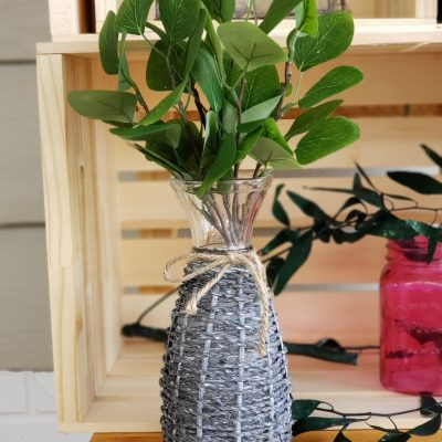 wrapped glass bottle