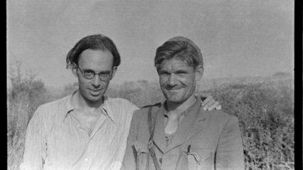 SPAIN, Brinete. July. 1937. CLAUD COCKBURN(left) and FRED COPEMAN, commander of British battalion