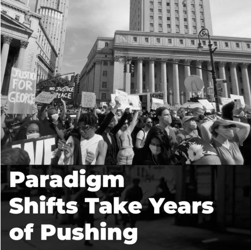 Paradigms take years to shift