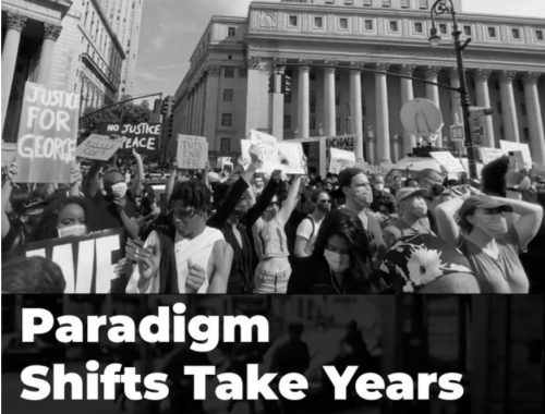 Paradigms take years to shift