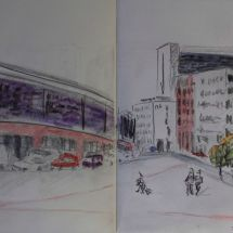 urban sketching Berlin