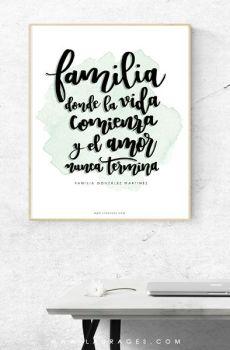 lamina personalizada familia