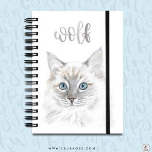 cuaderno gatito