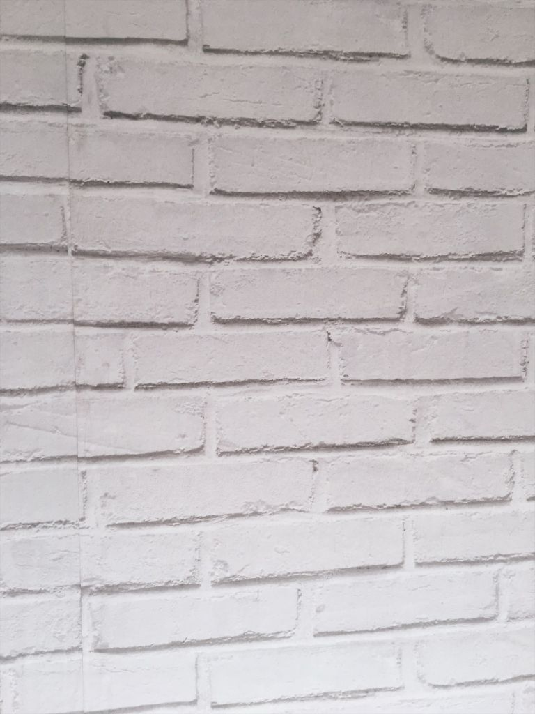 Primera junta pared efecto ladrillo
