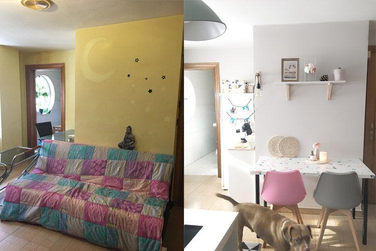 Antes y después sin reformas de nuestro comedor [decoración low cost]