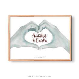 lámina personalizada san valentín