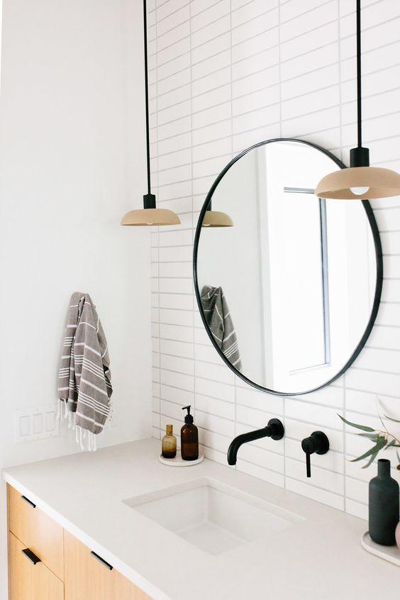 espejos redondos para baños