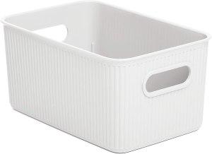 recipiente blanco